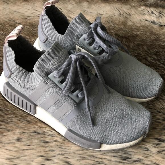 florero Hacer Europa  adidas Shoes   Nmd R1 Primeknit Grey Sneakers   Poshmark